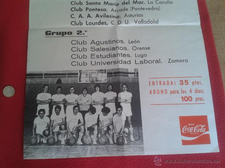 Coleccionismo deportivo: CARTEL POSTER DE BALONCESTO BASKET CAMPEONATO ESPAÑA JUVENIL MASCULINO. RIAZOR PUBLICIDAD COCA COLA - Foto 3 - 52691168
