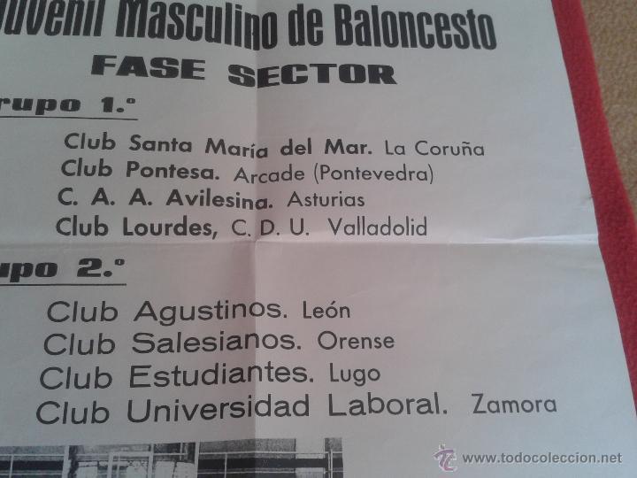 Coleccionismo deportivo: CARTEL POSTER DE BALONCESTO BASKET CAMPEONATO ESPAÑA JUVENIL MASCULINO. RIAZOR PUBLICIDAD COCA COLA - Foto 4 - 52691168