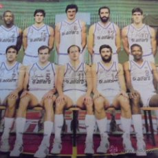 Coleccionismo deportivo: GIGANTES DEL BASKET - REAL MADRID CAMPEON LIGA 1985-86 - REVERSO BARÇA - AUTÓGRAFOS - ENVIO GRATIS. Lote 52698746