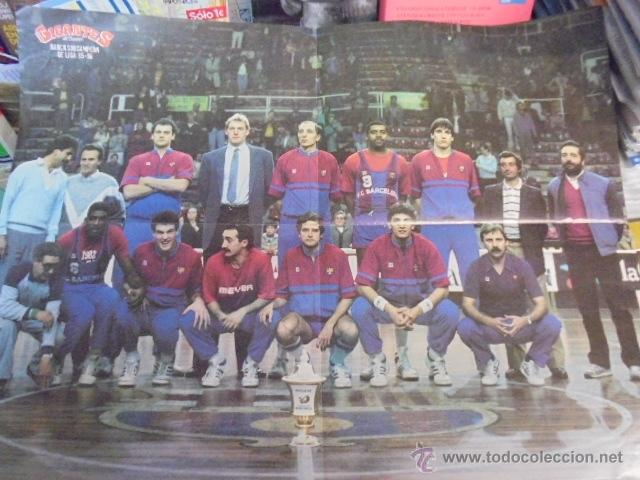 Coleccionismo deportivo: gigantes del basket - real madrid campeon liga 1985-86 - reverso barça - autógrafos - envio gratis - Foto 2 - 52698746