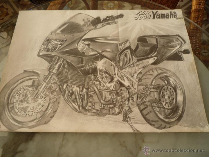 Cartel Motociclismo Dibujo Original A Lápiz Comprar En