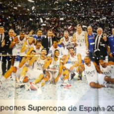 Coleccionismo deportivo: POSTER REAL MADRID BALONCESTO BASKET CAMPEON SUPERCOPA ESPAÑA 2013. Lote 52895730