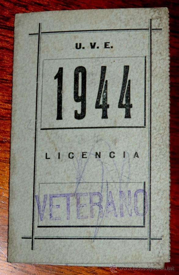 CARNET DE LA UNION VELOCIPEDICA ESPAÑOLA (CICLISMO), AÑO 1944, MADRID, MIDE ABIERTO 14 X 11 CMS. (Coleccionismo Deportivo - Carteles otros Deportes)