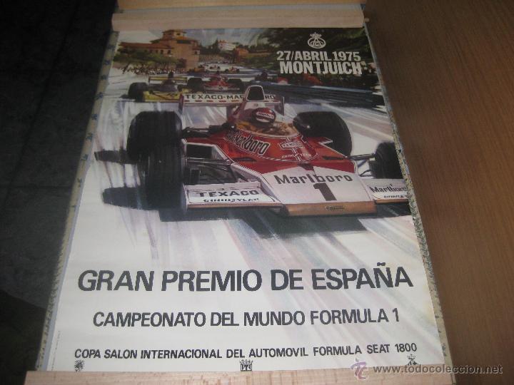 ORIGINAL,GRAN PREMIO DE ESPAÑA MONJUIT 1975 (Coleccionismo Deportivo - Carteles otros Deportes)