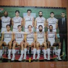 Coleccionismo deportivo: POSTER DE LA REVISTA GIGANTES REAL MADRID CAMPEON DE LIGA 85 86. Lote 53266752