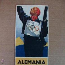 Coleccionismo deportivo: FOLLETO DE LAS OLIMPIADAS DE INVIERNO DE 1936 EN ALEMANIA. EDITADO EN ESPAÑOL. MUY RARO. Lote 53303037