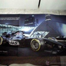 Coleccionismo deportivo: POSTER NUEVO EQUIPO FORMULA 1 F1 2016 HAAS TEAM CNC 94X49 CM EQUIPO ESTADOUNIDENSE USA. Lote 53480985