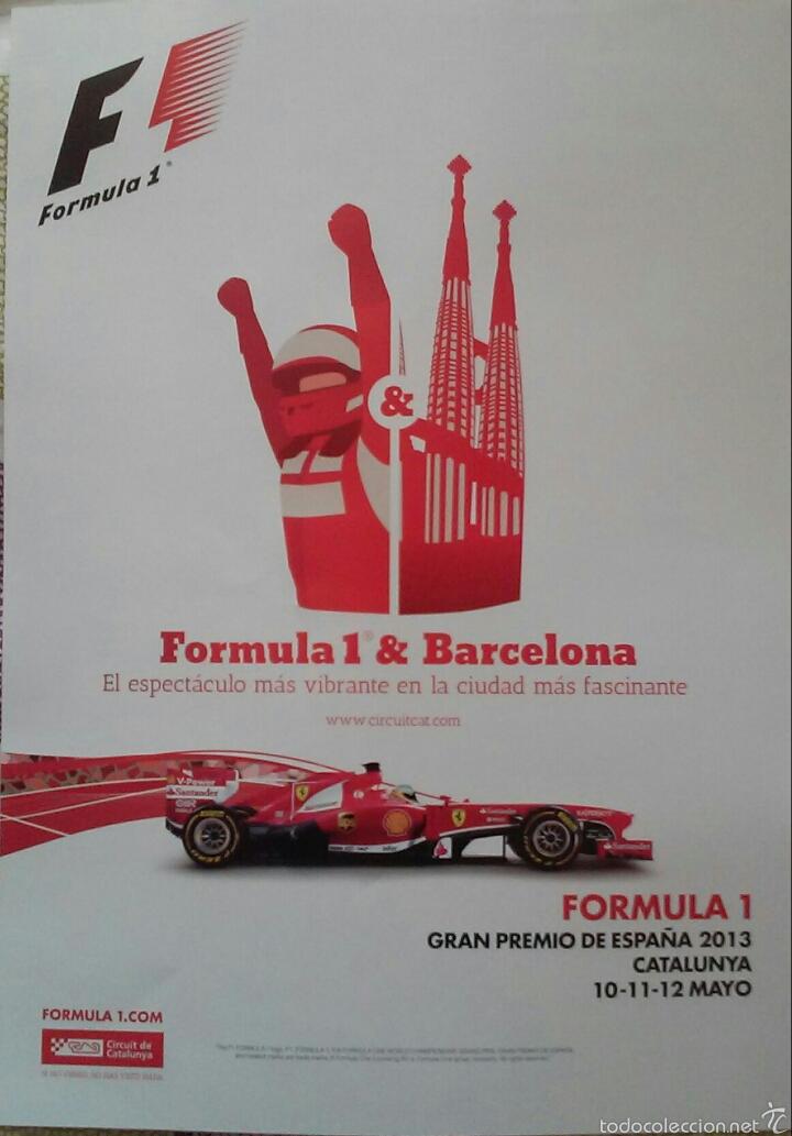 LAMINA 30X40 GP DE F1 DE ESPAÑA 2013 (Coleccionismo Deportivo - Carteles otros Deportes)