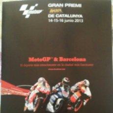 Coleccionismo deportivo: LAMINA 30X40 MOTO GP 2013 CIRCUIT DE CATALUNYA. Lote 53623862