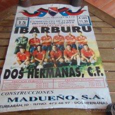 Coleccionismo deportivo: CARTEL CAMPO DE FUTBOL LOS MONTESILLOS IBARBURO DOS HERMANAS MIDE 69 X 50.5 CM. Lote 53745983