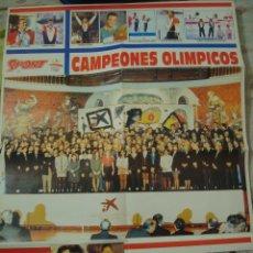 Coleccionismo deportivo: POSTER CAMPEONES OLÍMPICOS DE ESPAÑA, JUEGOS OLÍMPICOS BARCELONA 1992. Lote 53830499