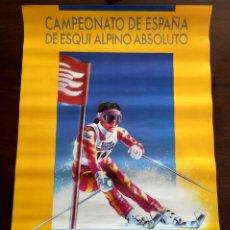 Coleccionismo deportivo: CARTEL DE ESQUI, SKI, CAMPEONATO DE ESPAÑA DE ESQUI ALPINO ABSOLUTO, 1989 SIERRA NEVADA,. Lote 66504257