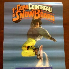 Coleccionismo deportivo: CARTEL 1ª COPA COINTREAU DE SNOW BOARD,. Lote 53840586