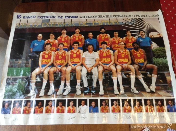 CARTEL SELECCIÓN NACIONAL BALONCESTO 1985 (Coleccionismo Deportivo - Carteles otros Deportes)