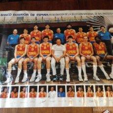 Coleccionismo deportivo: CARTEL SELECCIÓN NACIONAL BALONCESTO 1985. Lote 54010585