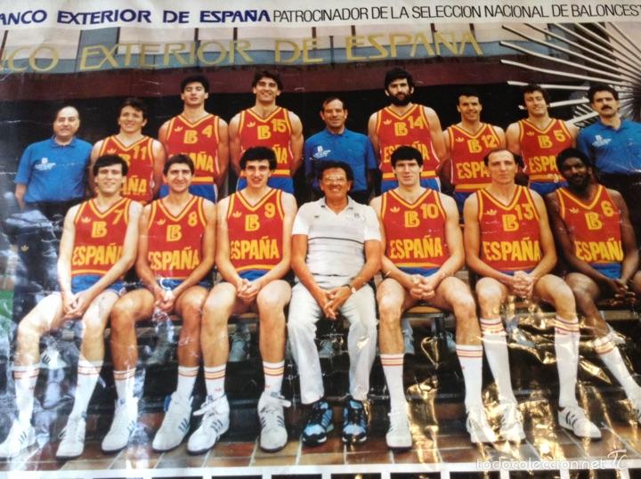 Coleccionismo deportivo: Cartel selección nacional baloncesto 1985 - Foto 2 - 54010585
