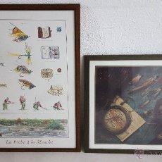 Coleccionismo deportivo: FLYFISHING. 2 PRECIOSOS CUADROS DE PESCA A MOSCA.. Lote 54378117