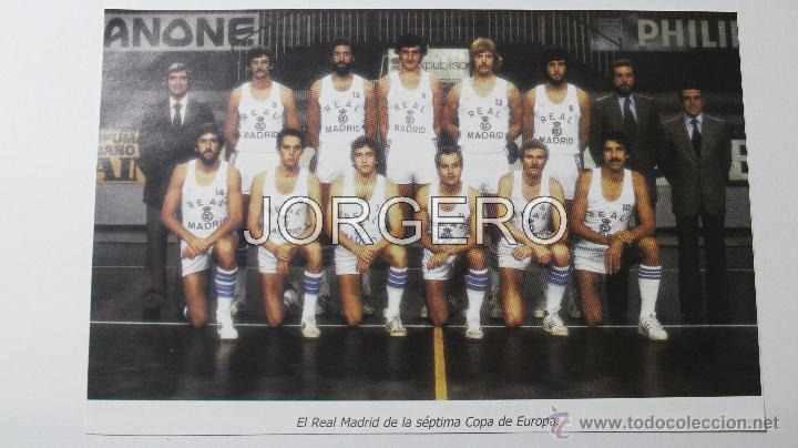 R. MADRID BALONCESTO 1979-1980. CAMPEÓN COPA DE EUROPA Y LIGA. RECORTE (Coleccionismo Deportivo - Carteles otros Deportes)
