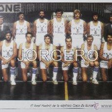Coleccionismo deportivo: R. MADRID BALONCESTO 1979-1980. CAMPEÓN COPA DE EUROPA Y LIGA. RECORTE. Lote 54832123