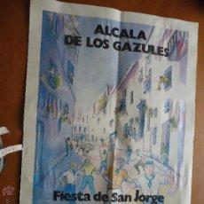 Coleccionismo deportivo: CARTEL FIESTAS DE SAN JORGE AYUNTAMIENTO DE ALCALA DE LOS GAZULES CADIZ . Lote 55051036