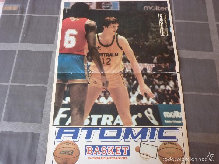 LOS SUPERPOSTERS MUNDOBASKET-1985- DAVIS (AUSTRALIA) (47 X 31 CM) (Coleccionismo Deportivo - Carteles otros Deportes)