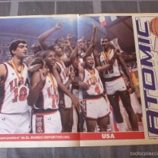 Coleccionismo deportivo: LOS SUPERPOSTERS MUNDOBASKET-1985-SELECCIÓN U.S.A. (47 X 31 CM). Lote 55913531
