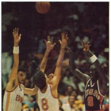 Coleccionismo deportivo: MICHAEL JORDAN VS ESPAÑA. LOS ANGELES 1984. RECORTE. Lote 56056528