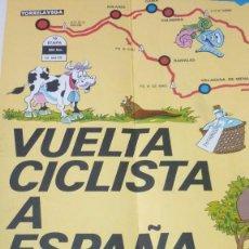 Coleccionismo deportivo: MAPA OFICIAL VUELTA CICLISTA A ESPAÑA 1973. FORMATO: 70 X 56 CTMS.. Lote 56549641