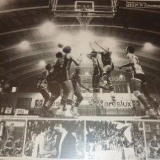 Coleccionismo deportivo: GRAN CARTEL FOTOGRAFICO FOTOGRAFIA PARTIDO BASQUET BALONCESTO ARESLUX GRANOLLERS REAL MADRID 1979. Lote 56642512