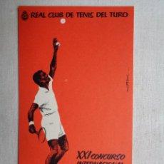 Coleccionismo deportivo: REAL CLUB DE TENIS DEL TURO.S-008. Lote 198052992