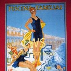 Coleccionismo deportivo: PISCINA FAMILIAS -BALNEARIO SAN | SEBASTIAN - BARCELONA - PUBLICIDAD IMÁGENES - DEPORTES - NATACION. Lote 56758738