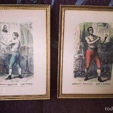 Coleccionismo deportivo: GRABADOS, 1ER CAMPEONATO DEL MUNDO DE BOXEO, TOM SAYERS, JOHN C. HEENAN 1860. Lote 57271272
