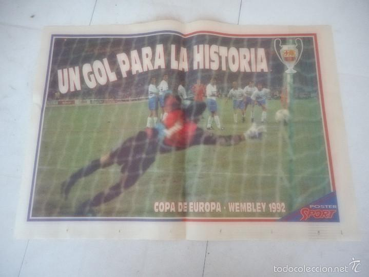 POSTER BARÇA BARCELONA FUTBOL GOL WEMBLEY (Coleccionismo Deportivo - Carteles otros Deportes)