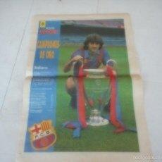 Coleccionismo deportivo: POSTER BARÇA BARCELONA FUTBOL. Lote 57653533