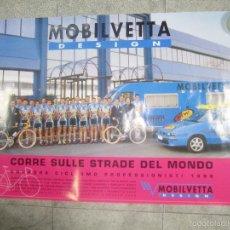 Coleccionismo deportivo: CARTEL DE CICLISMO MOBILVETTA. 1998. PERFECTO ESTADO. 68,5 X 98 CM.. Lote 57703105
