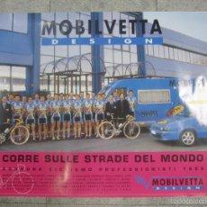 Coleccionismo deportivo: CARTEL DE CICLISMO MOBILVETTA. 1998. PERFECTO ESTADO. 68,5 X 98 CM.. Lote 57703121