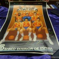 Coleccionismo deportivo: POSTER SELECCION ESPAÑOLA DE BALONCESTO - MUNDO BASKET 86. Lote 57990037