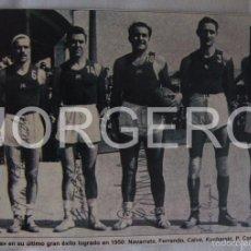Coleccionismo deportivo: F.C. BARCELONA BALONCESTO. CAMPEÓN DE COPA 1949-1950. RECORTE. Lote 58107525