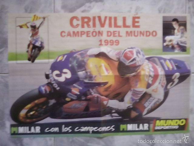 PÓSTER CRIVILLE DE CAMPEÓN DEL MUNDO 1999 DE APROX DE 60X40CM (Coleccionismo Deportivo - Carteles otros Deportes)