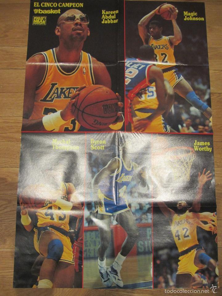 POSTER GIGANTE LOS ANGELES LAKERS PLAYOFFS 1988. EL CINCO CAMPÉON. DON BASKET (Coleccionismo Deportivo - Carteles otros Deportes)