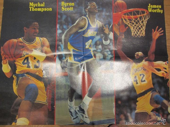 Coleccionismo deportivo: Poster gigante Los Angeles Lakers Playoffs 1988. El Cinco Campéon. Don Basket - Foto 2 - 58374998