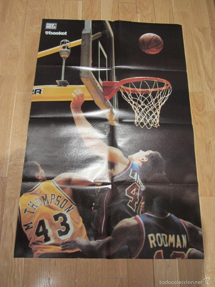 Coleccionismo deportivo: Poster gigante Los Angeles Lakers Playoffs 1988. El Cinco Campéon. Don Basket - Foto 4 - 58374998