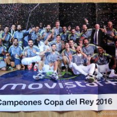Coleccionismo deportivo: POSTER REAL MADRID CAMPEON COPA DEL REY 2016 BALONCESTO BASKET. Lote 58965330