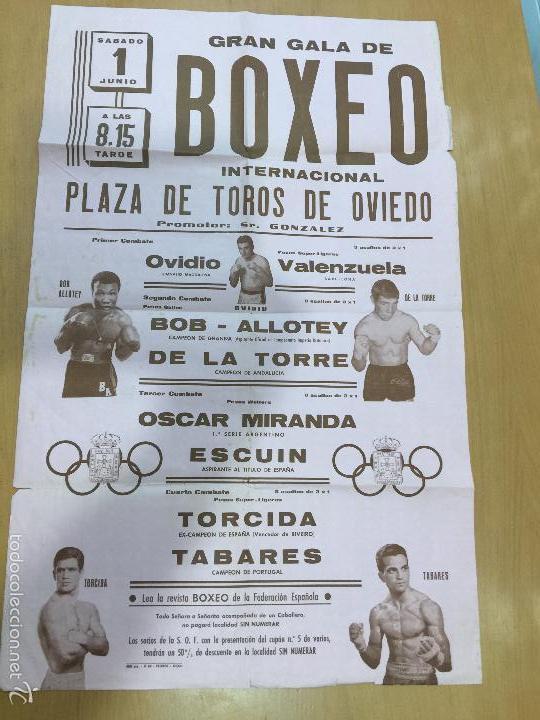 BOXEO VELADA PLAZA DE TOROS DE OVIEDO DE 1968 (Coleccionismo Deportivo - Carteles otros Deportes)