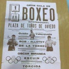 Coleccionismo deportivo: BOXEO VELADA PLAZA DE TOROS DE OVIEDO DE 1968. Lote 61204503