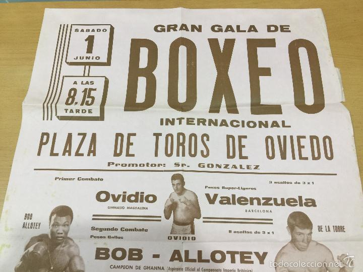 Coleccionismo deportivo: BOXEO VELADA PLAZA DE TOROS DE OVIEDO DE 1968 - Foto 2 - 61204503