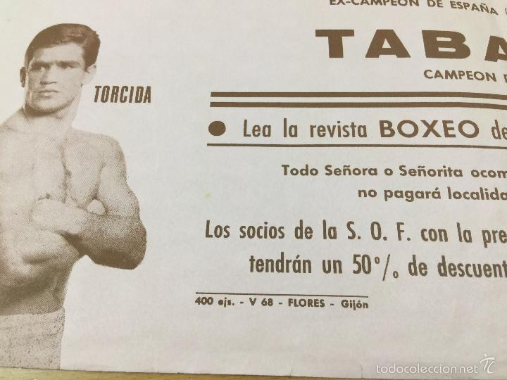 Coleccionismo deportivo: BOXEO VELADA PLAZA DE TOROS DE OVIEDO DE 1968 - Foto 6 - 61204503