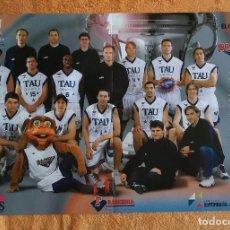 Coleccionismo deportivo: POSTER DEL TAU BASKONIA DE BALONCESTO DE VITORIA. COPA DEL REY 2002.. Lote 61683968