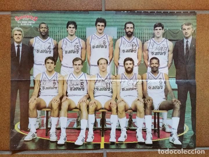 POSTER REAL MADRID Y BARCELONA. LIGA 1985 1986. GIGANTES. BALONCESTO (Coleccionismo Deportivo - Carteles otros Deportes)