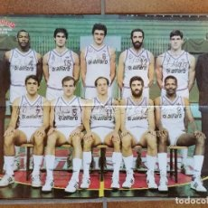 Coleccionismo deportivo: POSTER REAL MADRID Y BARCELONA. LIGA 1985 1986. GIGANTES. BALONCESTO. Lote 61728692